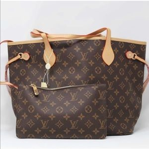 Louis Vuitton Neverfull MM Monogram handbag Set